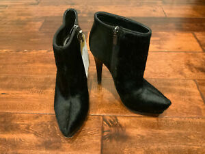 "Sam Edelman Circus Black Calf Hair ""Jacey"" Ankle Boots, Size 6 (US) 36 (IT)"