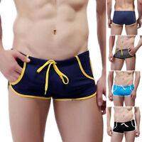 Men's Swimming Trunks Underwear Swim Shorts Briefs Summer Beach Swimwear Bottoms