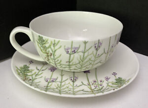 Ashdene Fine Bone China Tea Cup And Saucer Set Lavender Fields Collection MINT