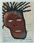 JEAN-MICHEL BASQUIAT COLLAGE AND MIXED MEDIA ON CANVAS 1982 AMERICAN PAINTER