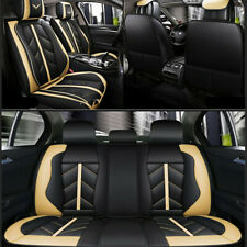 PU Leather Car Seat Cover Luxury Full Seat Protector For Interior Accessories