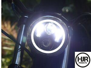 "HJR Products LED 5.75"" Inch  Headlight Harley Davidson Ducati Yamaha 6000K"