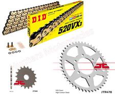 Kawasaki ER6 F & N  (2011 Models) DID Gold X-Ring Chain & JT Sprockets Kit Set