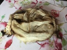 Vtg 1920s Blonde Mink Fur Muff 2 Full Body Mink 18� X 14� Very Unusual Colors
