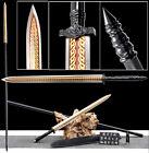 KungFu/WuShu lance Han Jian Sharp 1095Carbon Steel Outdoors/Hunting Spear Sword