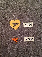 CONFETTIS Papier X 450 Mariage COEURS JAUNE & COLOMBES ORANGE Déco Table AUT25OR