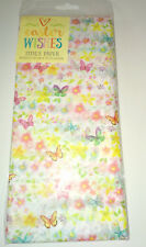 10 Sheets FLORAL TISSUE PAPER 50x75cm Bright Spring BUTTERFLIES GIFT WRAPPING