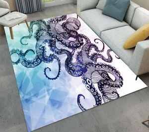 Floor Rug Mat Geometric Patterns Octopus Bedroom Carpet Living Room Area Rugs
