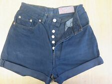 "++ VINTAGE ++ LEVI 501 BLACK DENIM SHORTS SIZE 4/6 W26"" HIGH WAIST/CUT OFF"