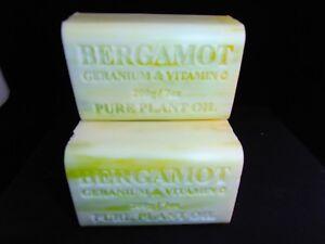 BERGAMONT AND GERANIUM NATURAL AUSTRALIAN MADE SOAP 10 CAKES X 200GRM $42.00