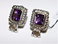 Le Vian Silver/14K 10.50CT Amethyst & Citrine Earrings $847
