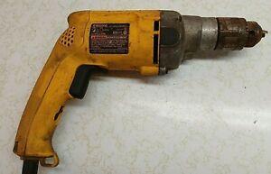 "Dewalt DW235G 1/2"" Corded Drill  Needs Chuck Runs"
