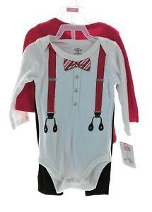 Little Treasure Infant Boys 3 Piece Christmas Outfit Size 3-6 Mths