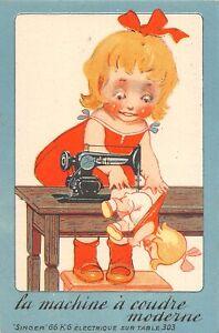H71/ Interesting Postcard c1910 France Singer Sewing Machine Advertisement 17
