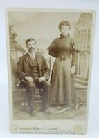 Antique Victorian photograph Couple Lady & Gentleman