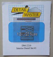 Interior Detail Set #1 1:24 1:25 DETAIL MASTER CAR MODEL ACCESSORY 2210