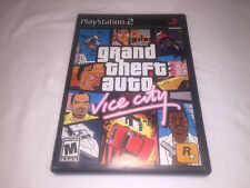 Grand Theft Auto Vice City (Playstation PS2) Black Label Complete w/Poster Exc!