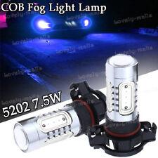 2X 5201 5202 9009 PS24WFF 7.5W 10000K Blue COB LED Fog Lights Driving Bulbs DRL