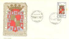 1964 SPD ESCUDO DE JAEN EDIFIL 1552 SPAIN SHIELD MATASELLOS DE JAEN FDC  TC10742