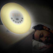 Bedroom Smart Wake-Up Light Lamp Snooze Alarm Clock Sunrise Simulation FM Radio