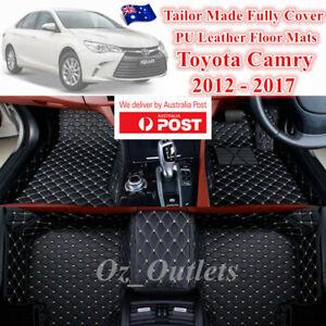 3D Cut Custom Made Waterproof PU Car Floor Mats fits Toyota Camry 2012 - 2017
