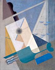 Composition 215A by Karol Hiller A2+ High Quality Canvas Art Print