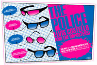 """The Police Concert Poster w/ Elvis Costello and The Imposters 2008 S/N Greg """"..."""