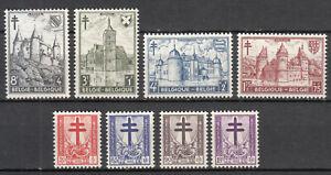 Belgium - 1951 Castles Sc# B503/B510 - MNH (7430)