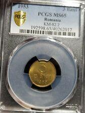1953 3 Bani Romania.  PCGS MS 65. Rare