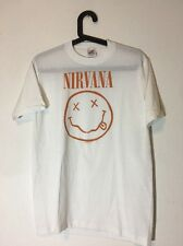 Vintage NIRVANA 1992 T-SHIRT ORIGINAL Smiley Face Kurt Cobain Deadstock Sz: M