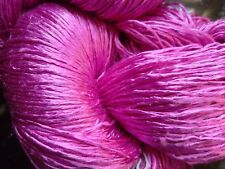 Luxury Laceweight Silk Yarn, 85g. Lavender Pink. For Weaving/Textile Crafts