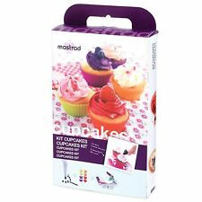 Mastrad 18 Piece Cupcake Kit Mini Molds Piping Bag Instructional Booklet