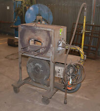 Gas Fired Heat Treatment Furnace blacksmiths Forge Oven Mobile Blower