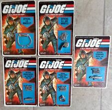 GI Joe Set of 5 Official Accessories MOC - Whistle Bracelet Pins Hasbro 1982 NEW
