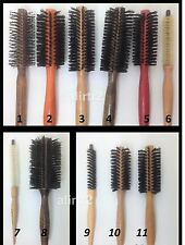 Set of 3 ROUND STYLING HAIR BRUSH  for real hair NON-burn for Pro use, wooden