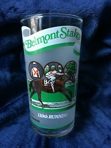 OFFICIAL BELMONT STAKES 119TH RUNNING DERBY GLASS CUP 1987 HORSE RACE