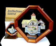 """DAVID WINTER PERSHORE MILL PLAQUE IN 10"""" WOOD FRAME SHADOW BOX 1991"""