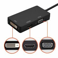 3 In1 Mini Display Port DP Thunderbolt to DVI +VGA +HDMI Adapter For MacBook Pro