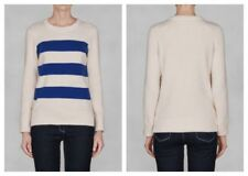 Women's Striped Crew Neck Zip Jumpers & Cardigans
