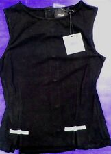 Black Top with Bow Peplum ASOS Sleeveless Misses size 2 New