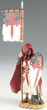 King & Country Medieval Knights Mk010 Crusader Knight Standing With Flag Mib