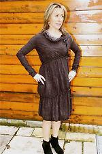 luxe vestido sexy ranurada negro espalda abierta elástica ALTA USO talla 38