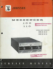 Original Factory EF Johnson Messenger 100/110 CB Radio Service Manual