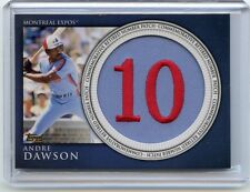 "2012 TOPPS #RN-AD ANDRE DAWSON ""COMMEMORATIVE RETIRED NUMBER PATCH"" EXPOS 040114"