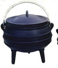 Cast iron Cauldron Potjie pot Size 1/2 Bean pot Sage Smudge pot