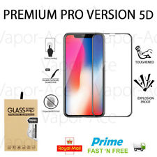 New 5D Full Coverage Tempered Glass Screen Guard Protector For Apple iPhone X 10