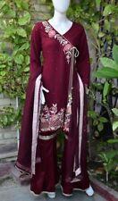 Pakistani Indian Designer Party Wear Gharara Pants Chiffon M, L