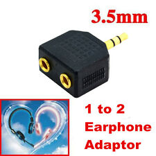 1 to 2 3.5mm Double Earphone Headphone Y Splitter Cable Cord Adapter Jack Plug