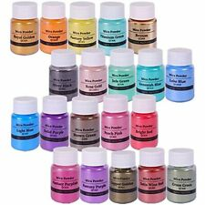 Seisso Mica Powder 20 Colors 10g/0.35oz Each Pigments In Jars For Soap Making