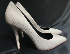 Women's Boutique 9 by Nine West 'Sally' Ivory/Gold Leather Pointy Heels Sz 7.5M